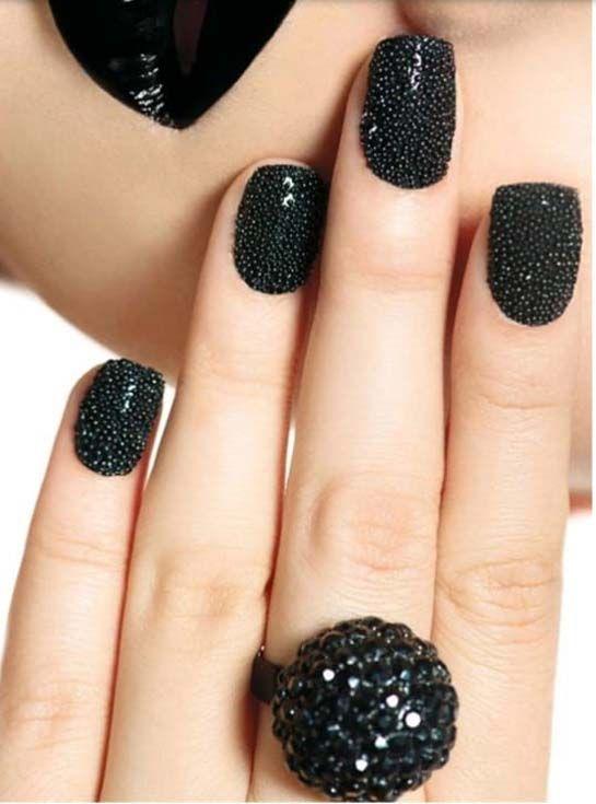 Beautiful Black Nail Art | Fashion nails, Nail designs, Nai