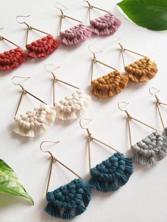 Add these stunning macrame earrings to your wardrobe for the .
