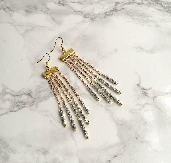 Stunning Waterfall DIY Beaded Earrings | AllFreeJewelryMaking.c