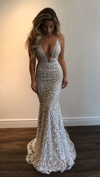 2017 Amazing Stunning Prom Dress,Spaghetti Straps Evening Dress .