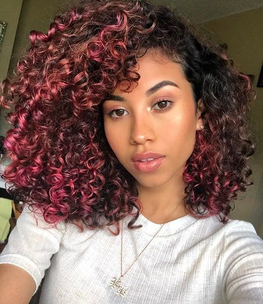 11 Pink Curly Hairstyles That Ooze Cuteness | Curly hair styles .