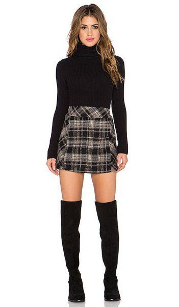How to Style Black and White Plaid Skirt: Outfit Ideas - FMag.com .