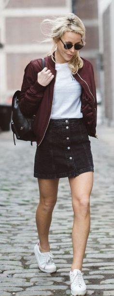 10+ Best Black denim skirt images | black denim skirt, skirt .