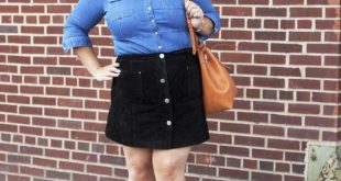 9 stylish plus size button front skirt outfit ideas - curvyoutfits .