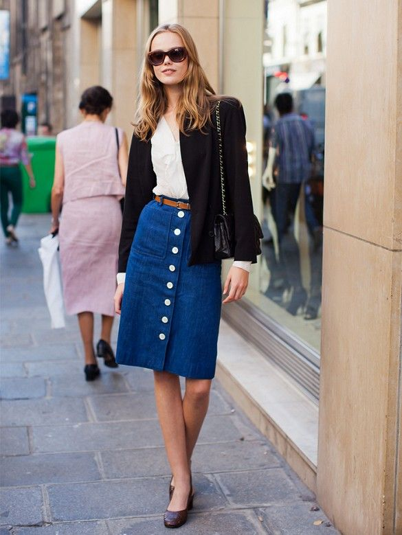 The Trend Taking Over the Fashion World: Button-Front Skirts .