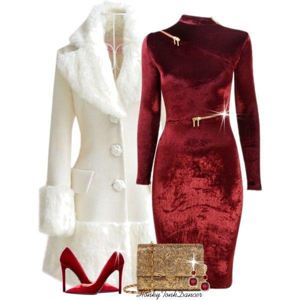 Red Velvet Dress - Elegant Christmas Party #clarksconsulting .