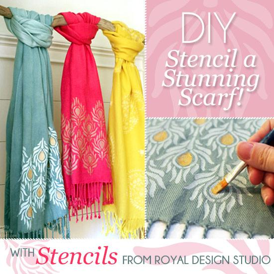 A Pretty Handy Girl Stencils Stylish Scarves as Holiday Gifts .