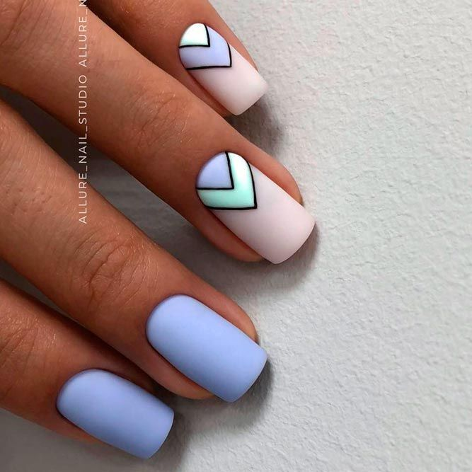 Awesome Summer Nail Art to Try | NailDesignsJournal.com | Blue .