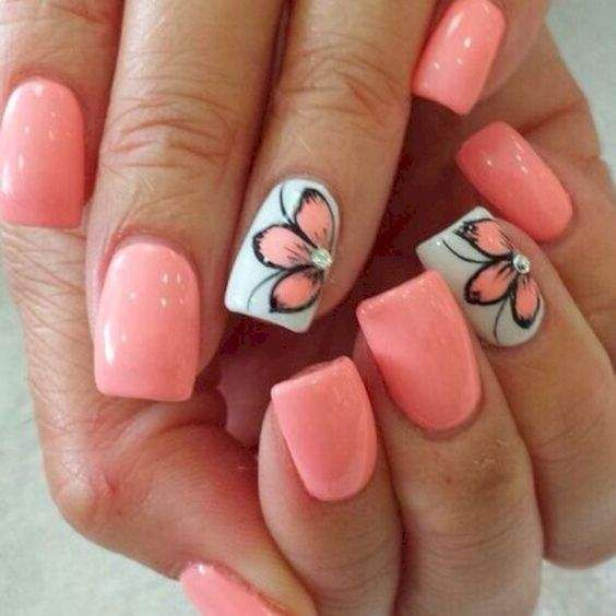 Pin by Kristi Robinson on Nails in 2020 | Cute summer nail designs .