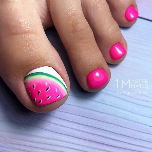 24 The Secrets of Simple Toe Nail Designs for Summer Pedicures .