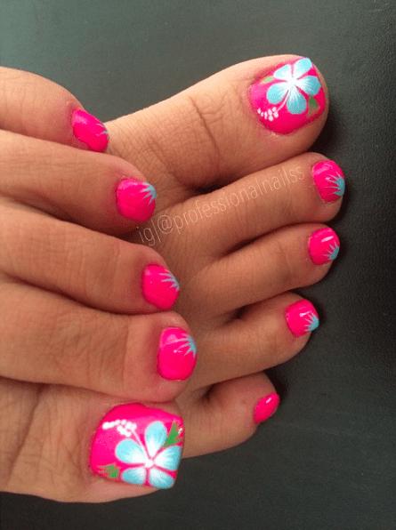 15 Sizzling Summer Pedicure Ideas | Summer toe nails, Cute toe .