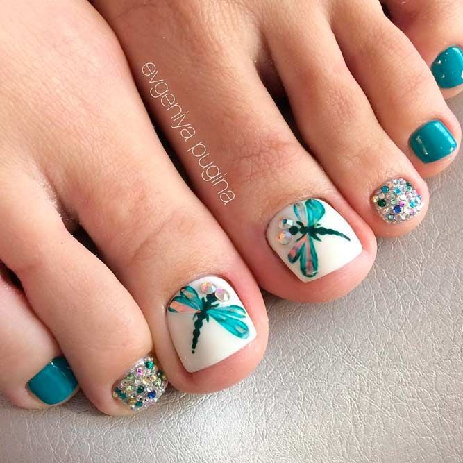 Beautiful Toe Nail Art Ideas To Try | NailDesignsJournal.com .