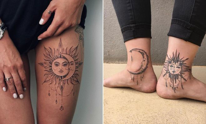 63 Most Beautiful Sun and Moon Tattoo Ideas | StayGl