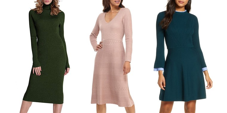 9 stylish — and cozy — sweater dresses that are perfect for wo