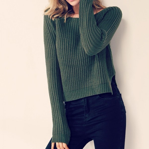 Buy Fashion yellow sweaters for women autumn winter knitted jumper .
