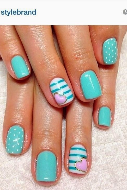 Teal Nail Designs 2014 First Show | Teal nails, Teal nail designs .