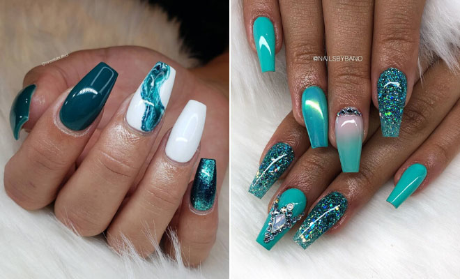 21 Teal Nail Designs We Can't Wait to Try | StayGl
