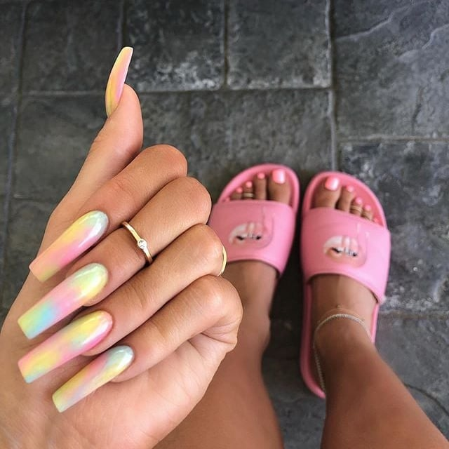 How to Do Tie-Dye Nails | POPSUGAR Beau