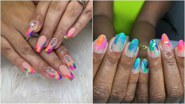 Tie-Dye Nail Inspiration | Reveli