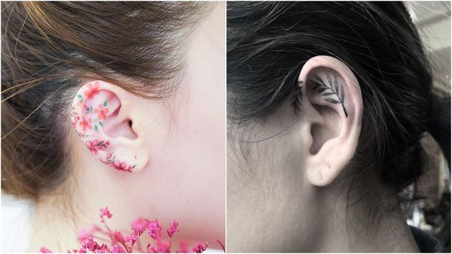 7 Tiny Ear Tattoo Ideas | Reveli