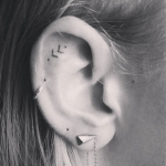 Tiny Ear Tattoos