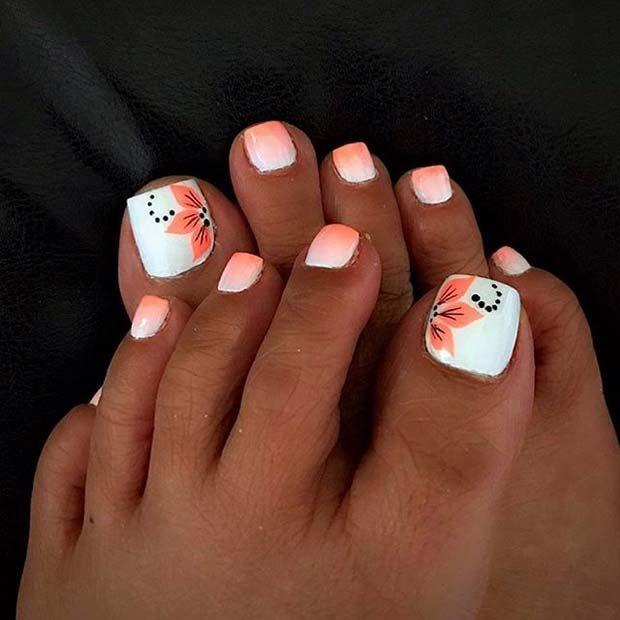 Toe Nails Designs 21 Beautiful Wedding Pedicure Ideas for Brides .