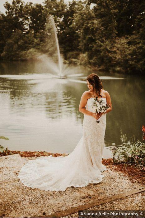 Wedding dress ideas - train, lace, strapless, designs, details .