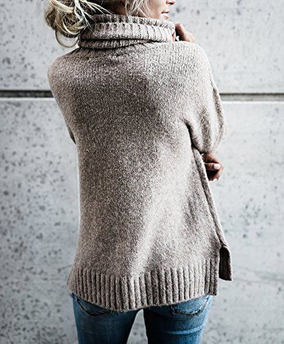 Beautife Womens Sweaters Casual Turtleneck Long Sleeve Soft .