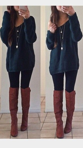 Trending looks | Outfits with leggings, Cute thanksgiving outfits .