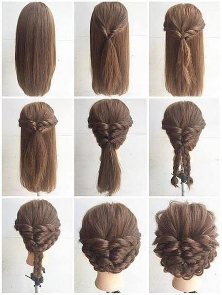 Fashionable Braid Hairstyle for Shoulder Length Hair | Long hair .