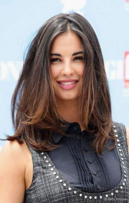 Trendy hairstyles for medium length hair round face style long .