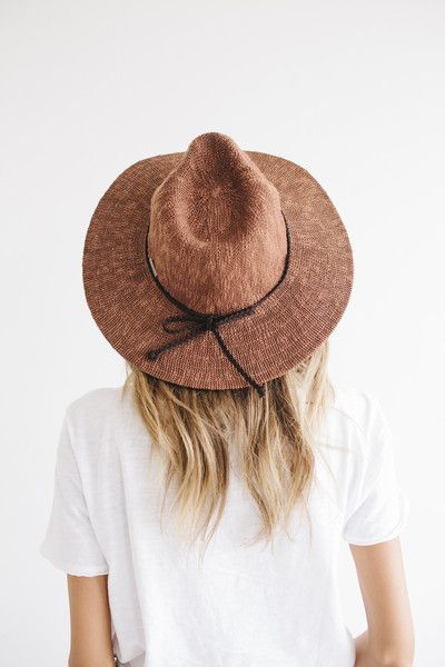 Eve - Copper Knit Floppy Hat | Summer hats for women, Summer hats .