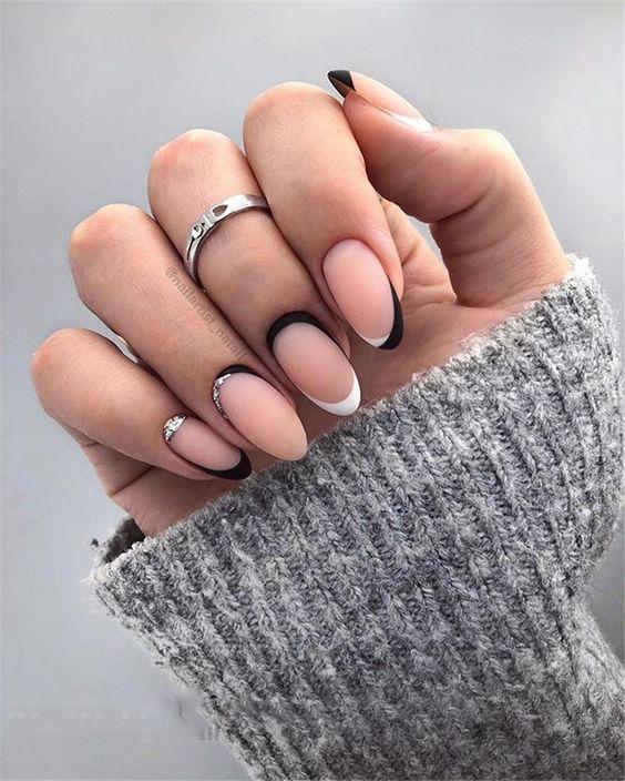 49 Trendy Almond Matte Nail Designs You'll Love | Matte nails .