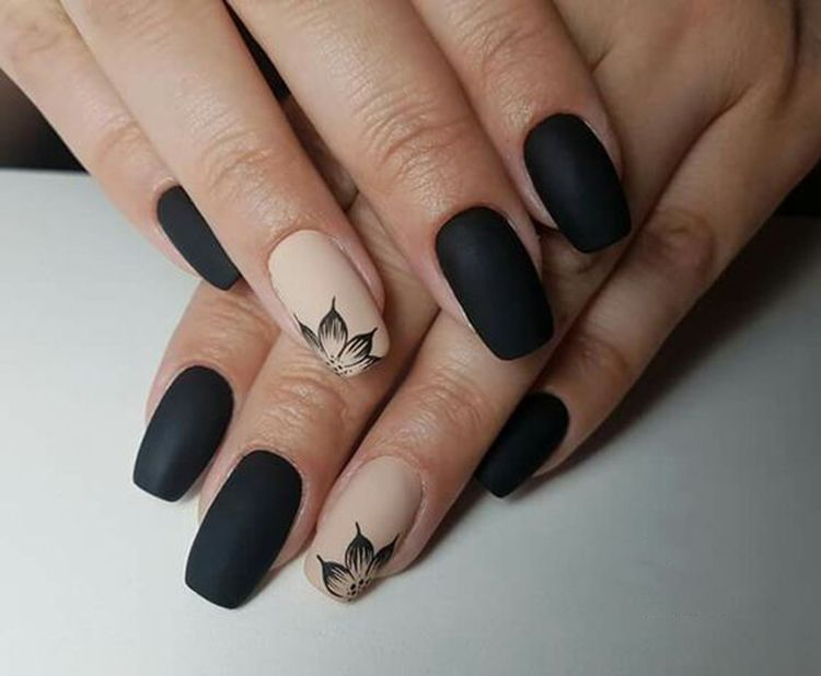 30+ Trendy Matte Black Nails Designs Inspirations Koees Blog .