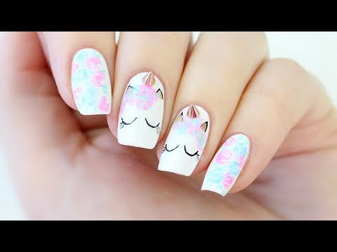 Unicorn Nail Art! - YouTu