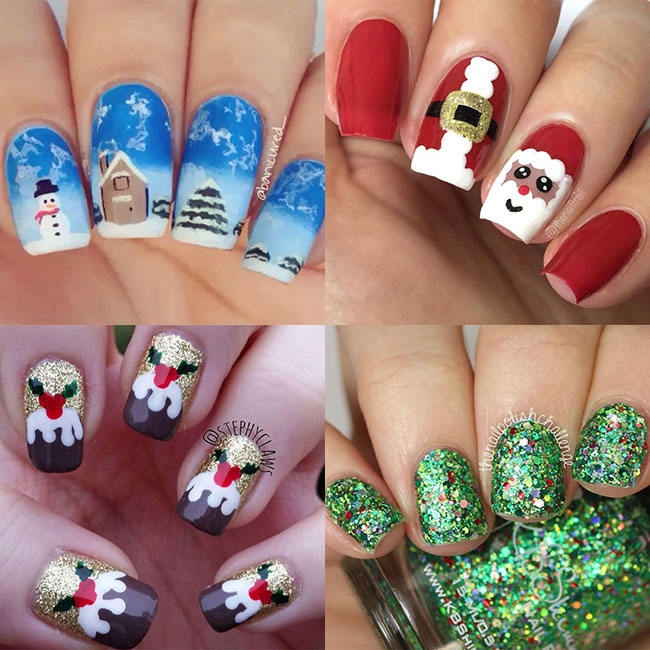 The best Christmas nail art ideas | HELL