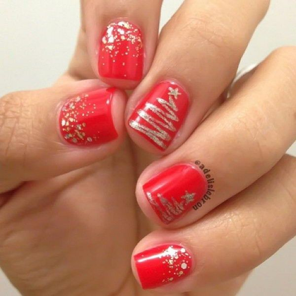 25 Cool Christmas Nail Designs | Tree nails, Christmas nails .