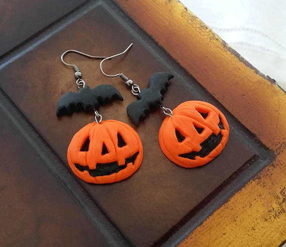 20 polymer clay Halloween earrings ide