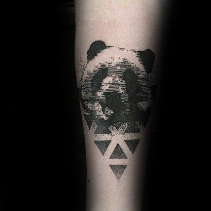 Geometrical Abstract Panda Male Tattoo Design Inspiration | Panda .