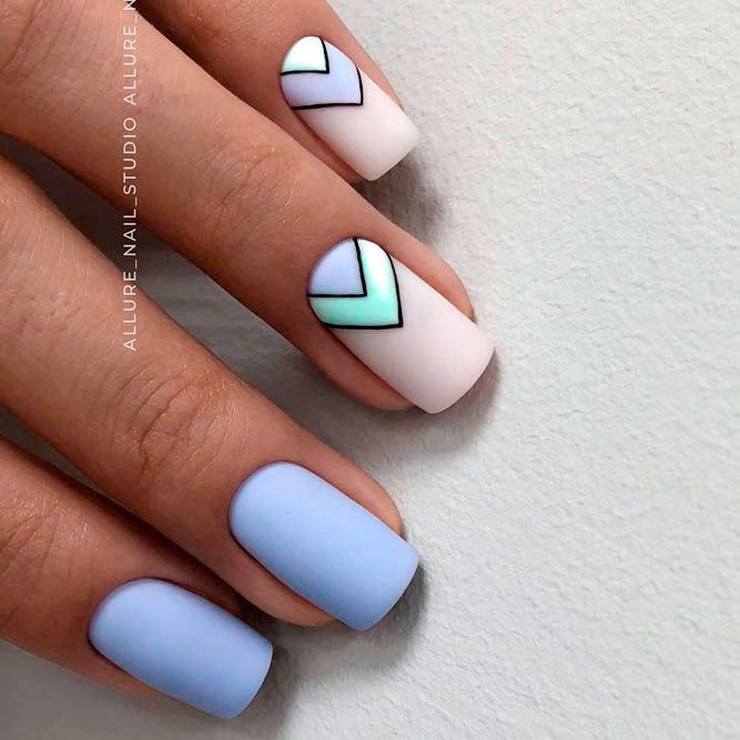 120+ Special Summer Nail Designs For Exceptional Look | Blue nail .