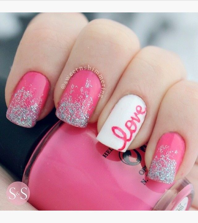 60 Incredible Valentine's Day Nail Art Designs | Nail designs .