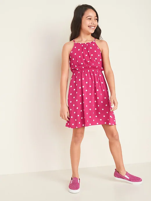 Cinched-Waist Cami Dress for Girls | Old Navy in 2020 | Girls .
