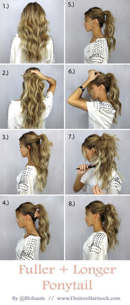 15 Hair Tutorials to Style Your Hair | Hair styles, Long hair .