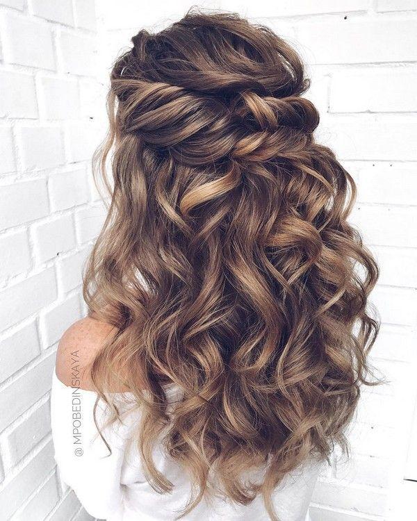 Long half up half down wedding hairstyles from mpobedinskaya .