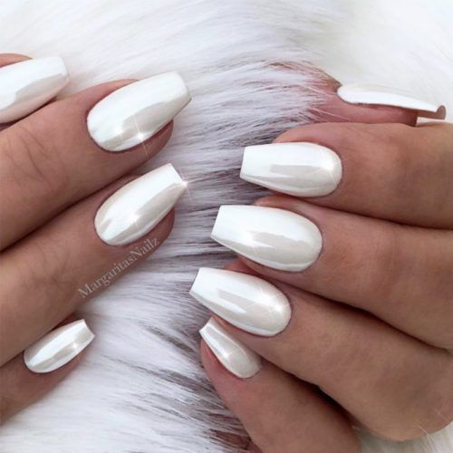 White Coffin Nails Designs For Any Occasion White Coffin Nails .