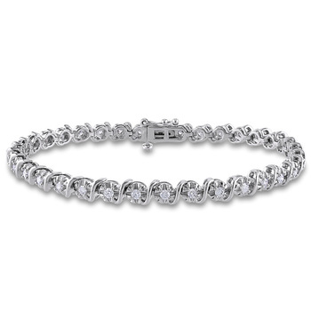 2018 New Designs White Gold Over Silver Men Bracelet With Cz Stone .
