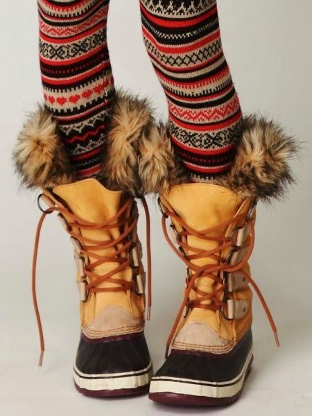 The Vogue Fashion: Cozy Sorel Lace Up Boots | Sorel boots, Boots .