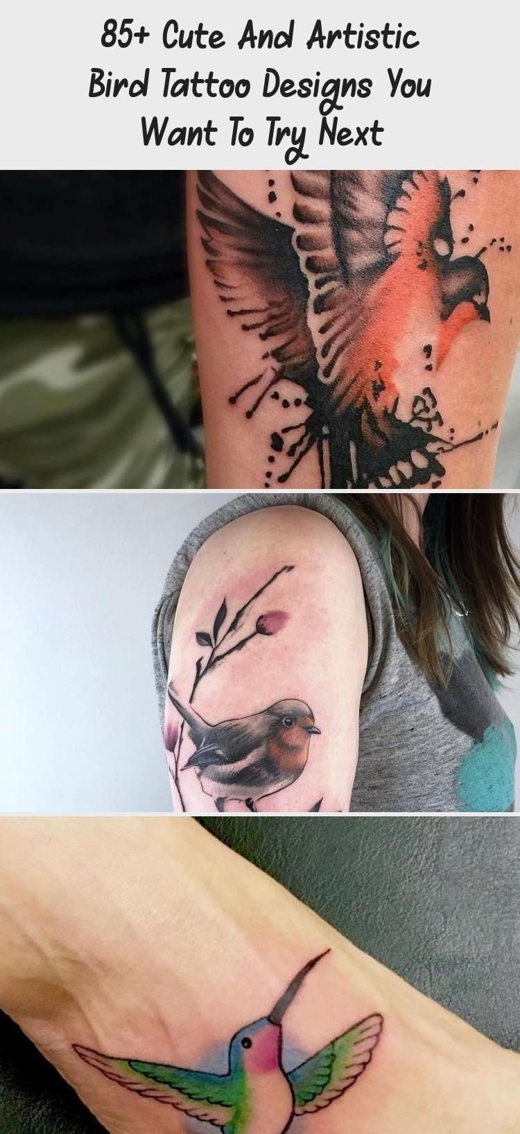Cute and Artistic Bird Tattoo Designs