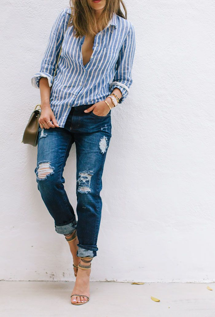 Distressed Denim Outfits
