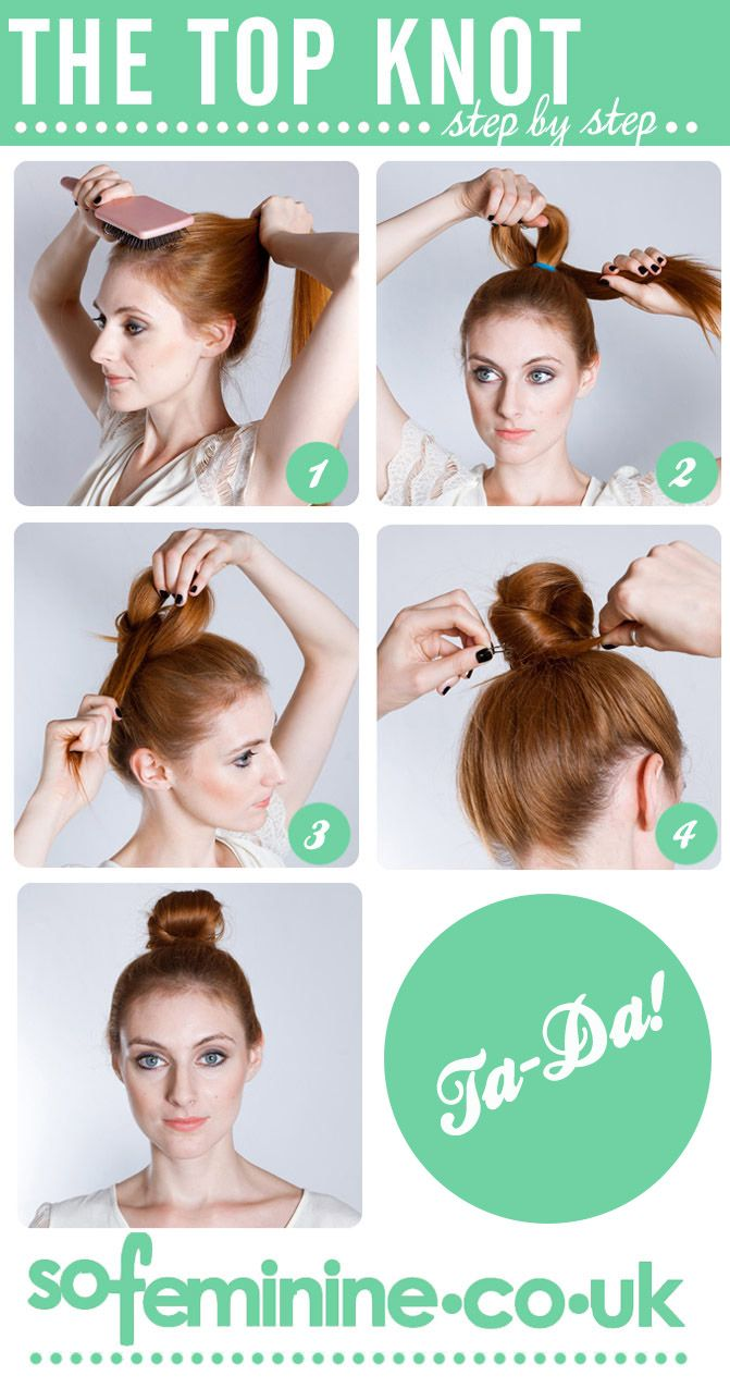 Easy and Quick Top Knot Hairstyles